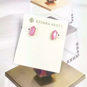 Kendra Scott Betty Blush Pearl Gold Earrings NWT